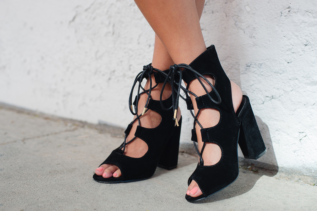 Popular Black Wedge Lace Ups