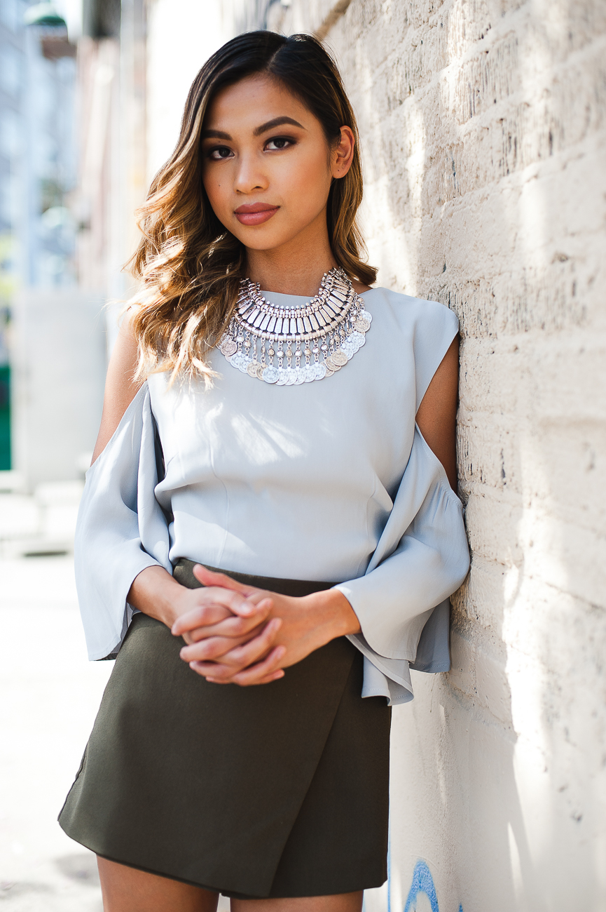Stylish Solid Color Off-The-Shoulder Tops