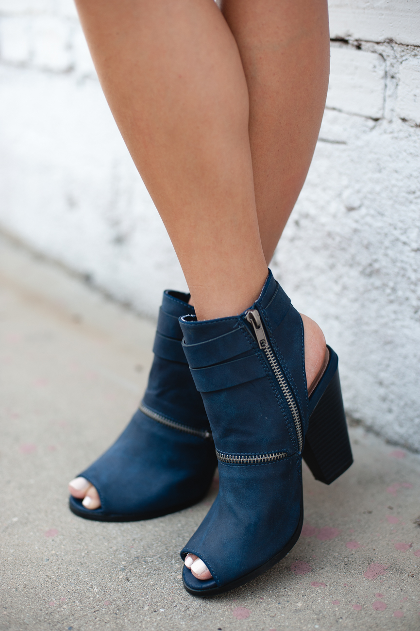 Navy Open Toe Sandals