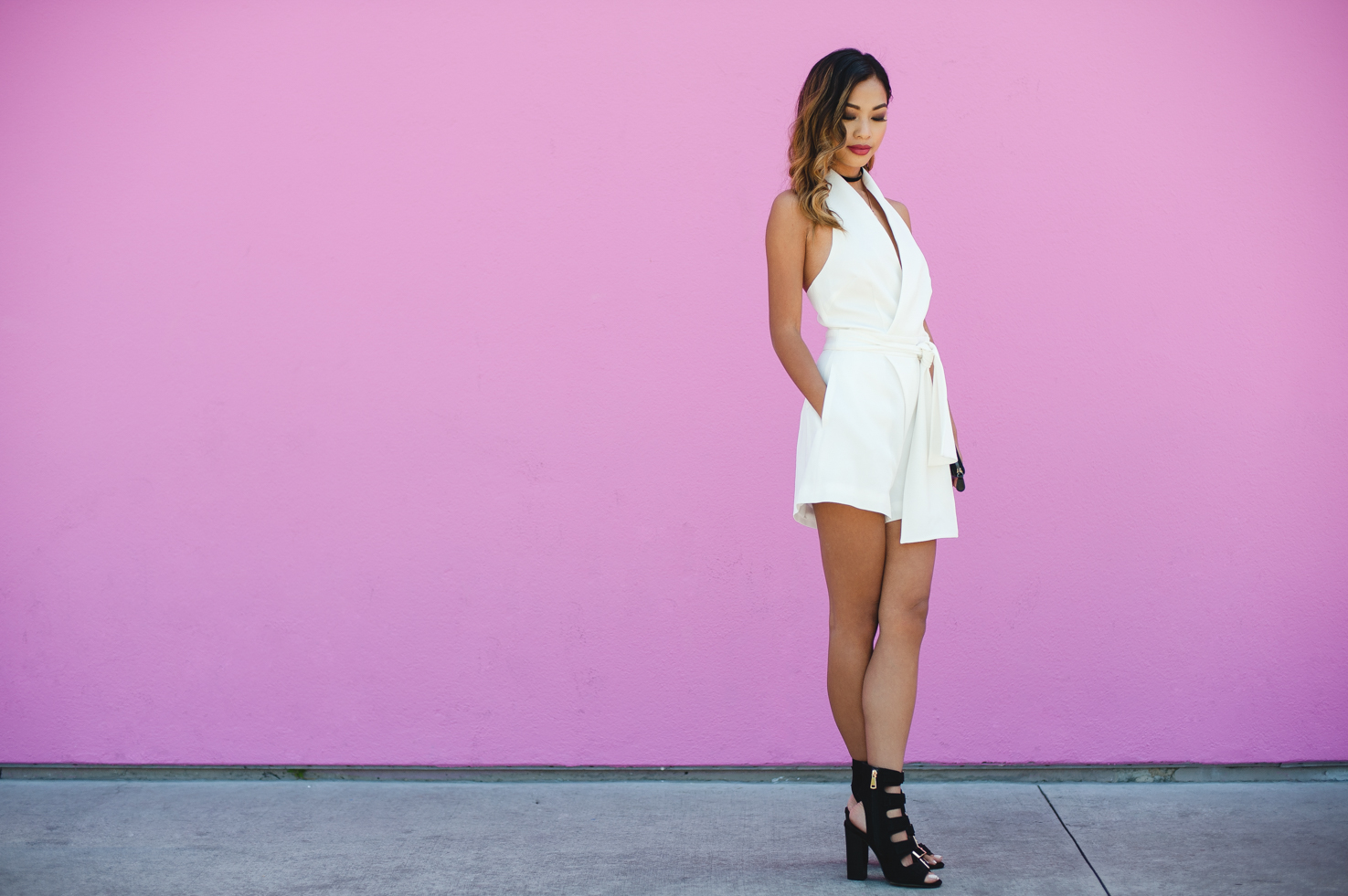 White Ivory Playsuit from BNKR