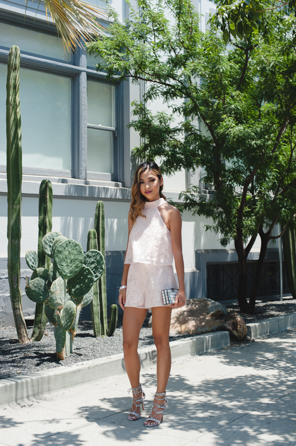 Blush Lace Outfit
