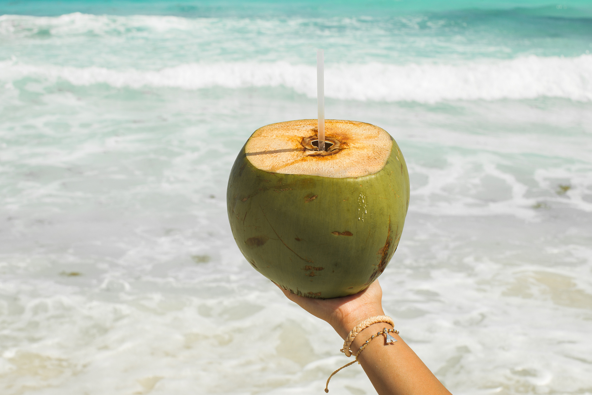 Coconuts on beaches